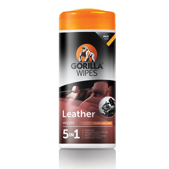 Gorilla - Leather bőrápoló törlőkendő (dobozos)