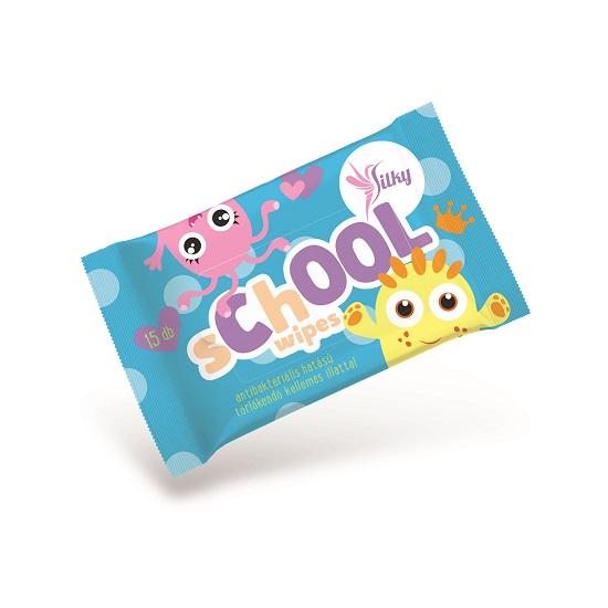 Silky - Silky SChOOL wipes nedves törlőkendő gyerekeknek 15 lap